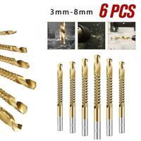 6Pcs 3-8mm Cobalt Drill Bit Set M35 HSS Jobber Length Twist Drill Bits Tools US