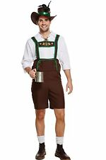 Adults Fancy Dress Bavarian Man Beer Lederhosen Oktoberfest Beer Austrian