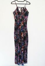 MISS SELFRIDGES Ladies Floral Multicolour Palazzo style trousers Playsuit UK 8