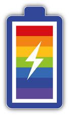 LGTB Gay Pride Rainbow Battery Car Bumper Sticker Decal 3'' x 5''