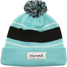 Diamond Supply Co OG Script Pom Pom Beanie blue diamond blue