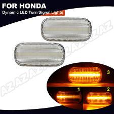 2x Sequential Amber Led Side Marker Light For Honda Civic Cr V Acura Rsx Integra