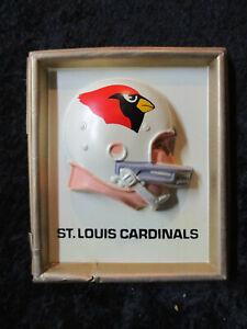 1965 St. Louis Cardinals NFL Technigraph MINI Football Helmet Wall Plaque