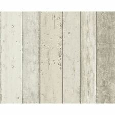 NEW ENGLAND WOOD PANEL EFFECT WALLPAPER NATURAL A.S.CREATION ROOM DECOR