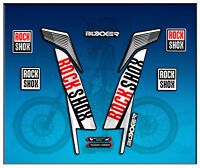 PEGATINAS STICKERS FORK ROCK SHOX BOXXER WORLD CUP AM78 AUFKLEBER DECALS ADESIVI