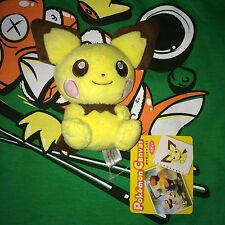 """LEGIT Pichu Canvas Plush 2010 Pokemon Center Japan Poke Doll Figure Dragonite 5"""""""
