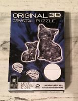 Original 3D Crystal Puzzle - Cat & Kitten (black) 49 pieces