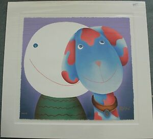 """MACKENZIE THORPE. """"WITH LOVE"""". SIGNED LIMITED EDITION SILKSCREEN PRINT"""
