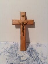 Vintage French Wooden Crucifix, Cross (1963)