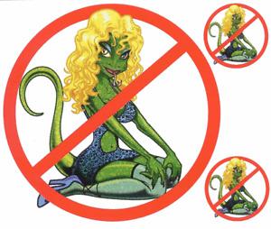 Keine Nutten Aufkleber Verbot No Lot Lizards Decal Sticker Truck LKW Iveco Daf