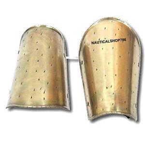 300 Spartan Movie Armor Arm Guard In Antique Brass Replica