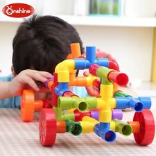 Kids Children Building Construction Toy Water Pipe Assembling Matching  72pc