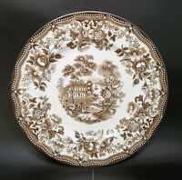 Tonquin Royal Staffordhire Brown Transferware Dinner Plate