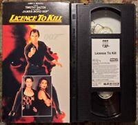 """Licence To Kill"" VHS CBS Fox James Bond 007 Timothy Dalton Vintage"