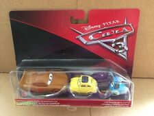 DISNEY CARS DIECAST 3 McQueen come Cars Chester Whipplefilter, Luigi & Guido Panno