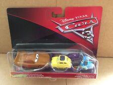 DISNEY CARS DIECAST Cars 3 McQueen As Chester Whipplefilter, Luigi & Guido Cloth