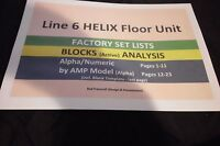 Line 6 HELIX(fw 2.01)-FACTORY PRESETS(200+)-BLOCK Analysis+Template(Secured PDF)