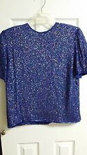Carina by Barry Lee Formal Beaded Blue Blouse Skirt Set WC336