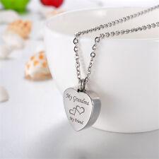 Cremation Jewelry Ashes Urn Pendant Keepsake Memorial Necklace Locket Relatives Grandma
