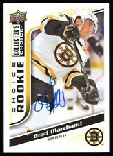2009-10 Upper Deck Collectors Choice Brad Marchand Autographed Rookie Card #235