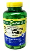 Spring Valley Glucosamine Chondroitin Joint Health 170 tablets 07/2021 SEALED