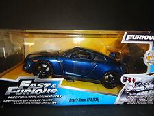 Jada Nissan GT-R R35 PERLA AZUL DE BRIAN FAST AND FURIOUS 97036 1/24