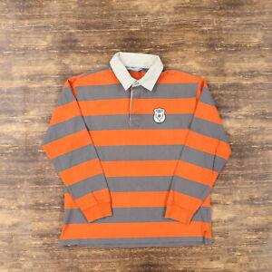 "Nike Men Large 45"" Winter League 1972 Rugby Shirt L/S Polo Stripe Color Block"