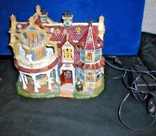 LEMAX Halloween SPOOKY TOWN BLACK CAULDRON INN house Musical ANIMATED retired