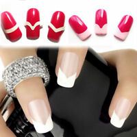 New Chic DIY 24 Styles French Manicure Nail Art Tips Tape Sticker Guide Stencil