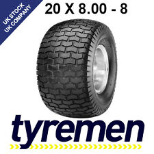 20 x 8.00 - 8 LAWNMOWER , GOLF BUGGY -  TURF TYRES - GRASS TYRES