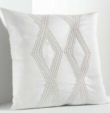 """Simply Vera Wang Pillow Size: 16 x16"""" New White Bugle Beaded Throw Free Shipping"""