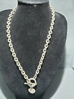 Retro Toggle chunky silver tone drop heart pendent  Necklace,gangster,statement