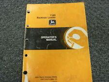John Deere 710D Backhoe Loader Owner Operator Maintenance Manual OMT135570