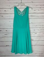 Altar'd State Women's Size L Large Turquoise Lace Sleeveless Cute Summer Dress
