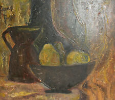 Vintage French expressionist still life oil painting Signed Bernard Buffet