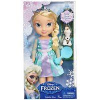 Disney Frozen My First Toddler Elsa Doll Royal Reflection Eyes, Olaf + Brush NEW