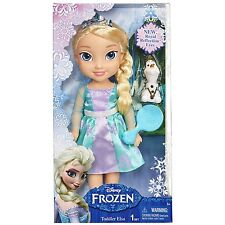 Disney Frozen My First Toddler Elsa Doll Royal Reflection Eyes, Olaf + Brush NEW
