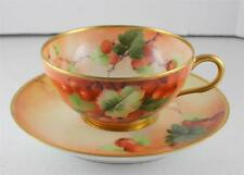 Hand Painted Artist Signed Ginori Italy Firenze Ware Roman Cup Saucer Porcelain