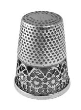 FLORAL PATTERN VICTORIAN STYLE THIMBLE STERLING SILVER 925 FROM ARI D NORMAN