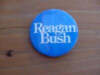 "1984 Ronald Reagan George H.W. Bush 2.5"" Presidential Campaign Pinback Pin"