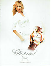 Publicité Advertising 078  2008   montre femme  Chopard Festival de Cannes