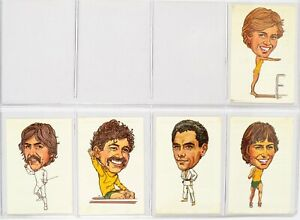 Australian Olympic Heros 1984, Complete Series of 40x cards, Caricature Olympian