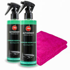 Waterless Wash & Wax Quick detailer Clay lubricant Water softener & Microfibres