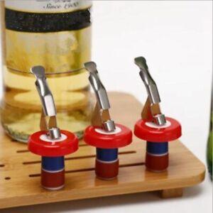 10x Stainless Steel Bottle Stopper Red Wine Sealer Saver Resealler Champagne