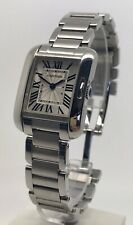 Authentic Cartier Tank Anglaise 3485 23mm Steel Women's Quartz Watch W5310022
