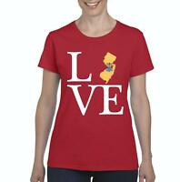Love New Jersey  Women Shirts T-Shirt Tee