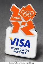 OLYMPIC PINS BADGE 2012 LONDON ENGLAND UK VISA SPONSOR ORANGE LOGO DESIGN