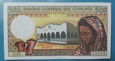 1994 Comoros 500 Francs GEM UNC <P-10b>