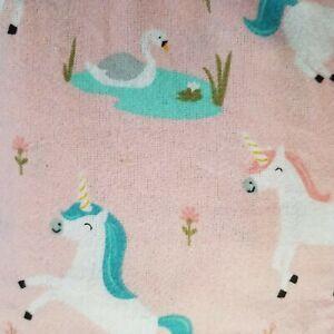 Pillowfort Unicorn Flannel Sheet Set TWIN 3 Piece Cotton Pink Fairytale Frolic