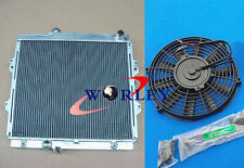 3 Row Aluminum Radiator + Fan for Toyota Hilux RZN149R RZN169R RZN174 97-05 2.7L